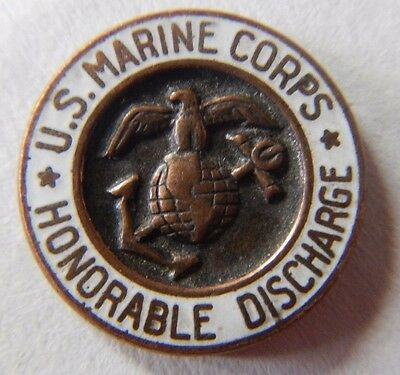 Vintage U.S. Marine Corps Honorable Discharge Pin Screwback Lapel + 5 others