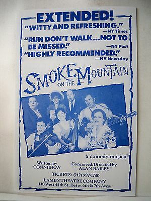 SMOKE ON THE MOUNTAIN Herald CONNIE RAY / ALAN BAILEY Lamb's Theatre NYC 1990