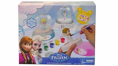 Disney Frozen Paint Your Own Glitter Dome Kit, Elsa & Anna and Olaf, Ages 4+