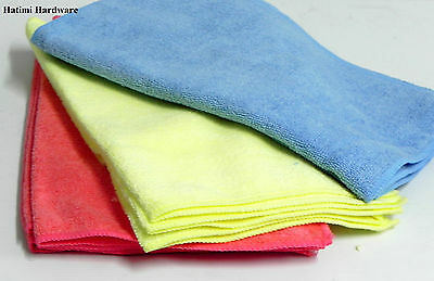 10 Microfibre Cleaning Cloth Multipurpose Large Soft Towel for Car,Boat,Home.