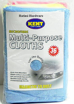 36 Microfibre Multipurpose Large Cleaning Soft Cloth for Car,Boat,Home. 35x40cm