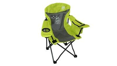 Coleman Fyrefly Illumi-bug Kids Quad Camping Chair with Drink Holder - Green