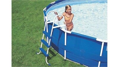 """Intex Pool Ladder 36"""" Wall Height Pools for Summer Backyards Family Fun"""