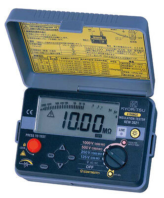 Kyoritsu 3021 Insulation Resistance and Continuity Tester
