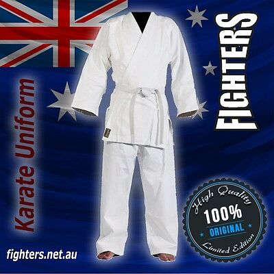 KARATE UNIFORM SIZE 000 to7 BEST QUALITY&FIT UNIFORMS 8Oz65/35 cotton polyester