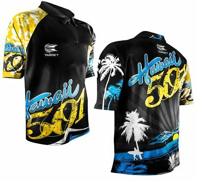 Target Wayne Mardle Hawaii 501 Official Replica Coolplay Darts Shirt