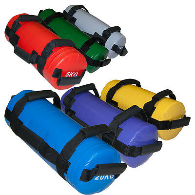 EVINCO 5-30kg Weighted Training Bag Handles Lifting Crossfit Fitness Power Sand