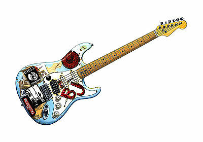 Billie-Joe Armstrong's Fernandes Stratocaster 'Blue' POSTER PRINT A1 Size