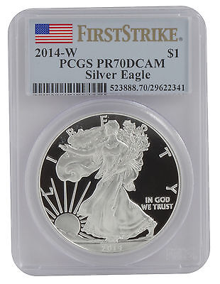 2014-W 1oz Proof American Silver Eagle PR70 PCGS First Strike