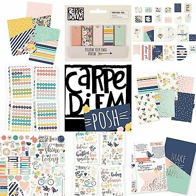 Simple Stories POSH Planner Range - Inserts Dividers Stickers (fits A5 Filofax)