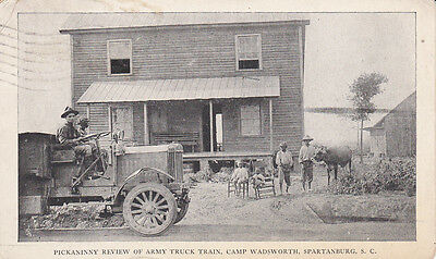 SPARTANBURG, S.C., PU-1917; Pickaninny review of Army Truck Train,Camp Wadsworth