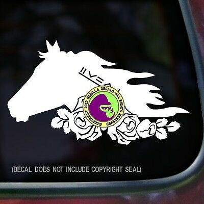 ROSES MUSTANG Decal Sticker Wild Horse Adopt BLM Mustangs Car Window Trailer