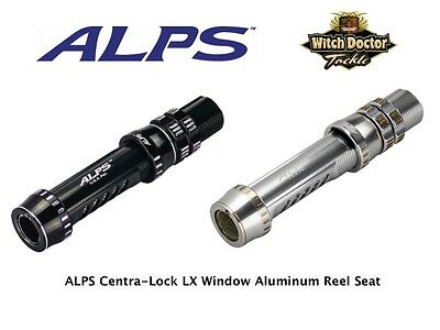ALPS Centra-Lock Dual Anodized Aluminum Reel Seat Silver & Black size 18 & 20