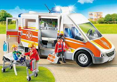 Playmobil #6685 Ambulance with Lights and Sound - New Factory Sealed