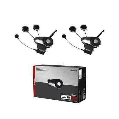 Sena 20S Motorcycle Bluetooth Communication System - Dual Pack (2Pcs)