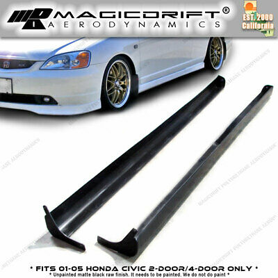 2001 2002 2003 01-05 Honda Civic 2/4Dr Type-A RS Side Skirts Skirt Poly Urethane