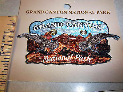 Grand Canyon National Park Arizona Beautiful Embroidered patch W/ Moving bighorn