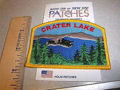 Crater Lake National Park Oregon Beautiful Embroidered patch, NEW