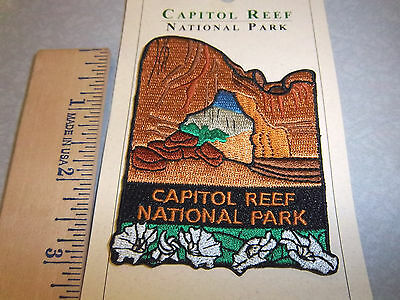 Capitol Reef National Park Utah, Beautiful Embroidered patch, NEW