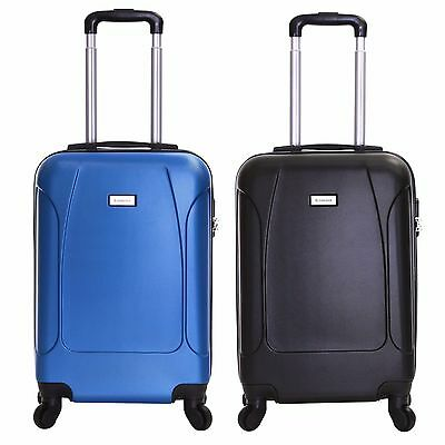Ryanair EasyJet Hard Cabin Approved Spinner Trolley Luggage Suitcase Bag Case