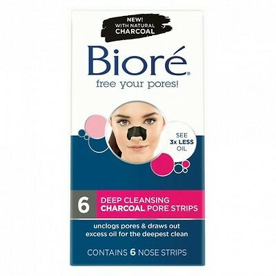Biore Deep Cleansing Charcoal Pore Strips X 6