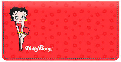Betty Boop Leather Checkbook Cover