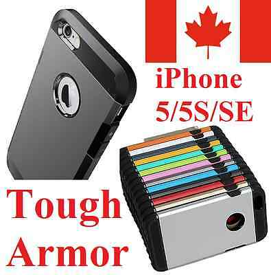 iPhone 5S 5 & iPhone SE Case - Tough Armor Hybrid Shockproof Heavy Duty Cover
