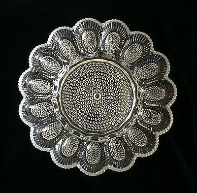 Indiana Glass Hobnail Deviled Egg Plate Crystal Clear