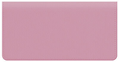 Pink Leather Checkbook Cover