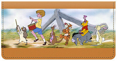 Pooh & Friends Leather Checkbook Cover