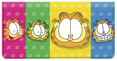 Garfield Faces Leather Checkbook Cover
