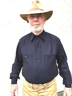 US Army M1883 Blue Wool Shirt Size 44