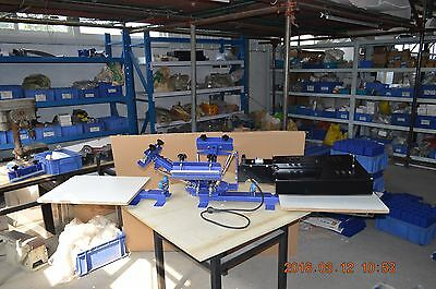 3 Color Silk Screen Printing Press 2 Station Equipment DIY Machine with Dryer