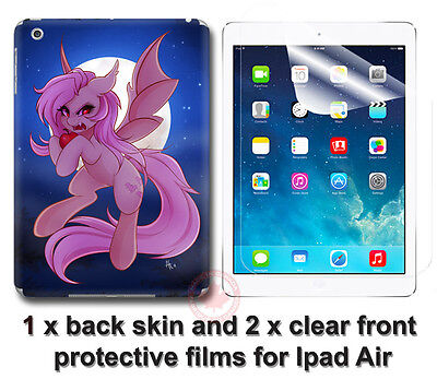 My Little Pony Cool New SKIN STICKER COVER #2 and 2 protected films for iPad Air