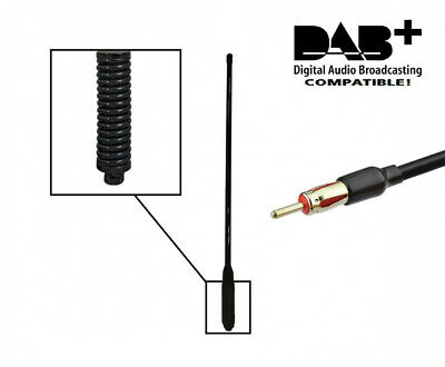 GME AE4018BK1 FULL BLACK HEAVY DUTY HI GAIN Antenna  UHF SPRING ALSO BLACK COAT
