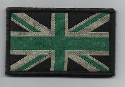 Union Jack Patch MTP Style Badge TRF Military Army Green Sleeve