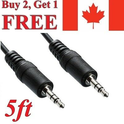 1.5m Aux Cable 3.5mm Male to Male Gold Plated Auxiliary Audio Music Stereo Sound