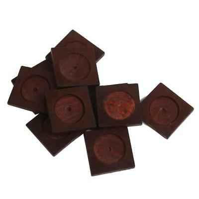 10x Antique Square Wooden Cameo Base Setting/Tray Wooden Craft DIY Brown NEW