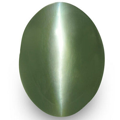 1.38-Carat IGI-Certified Deep Green Alexandrite Cat's Eye from Orissa, India