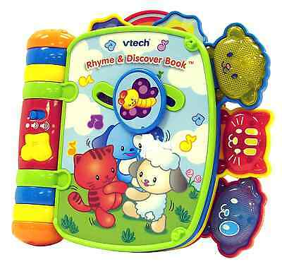 VTech Rhyme Discover Book Developmental Baby Toy Learning System Game Fun Kids