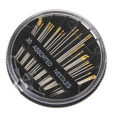 30pc Assorted Hand Sewing Needles Embroidery Mending Craft Quilting Sew Case