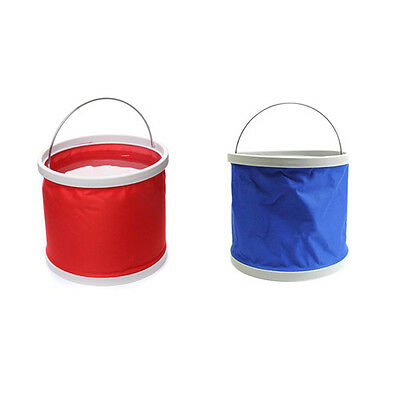 Camping Fishing Wash Clean PortableFolding bucket Water Pot 9L/10L