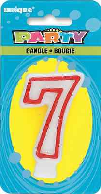 Number 7 Birthday Cake Candle 7th Birthday Candles Party Decorations