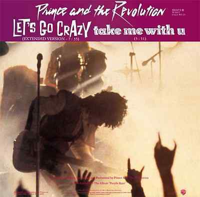 """PRINCE AND THE REVOLUTION - Let's Go Crazy (12"""") (VG/G+)"""