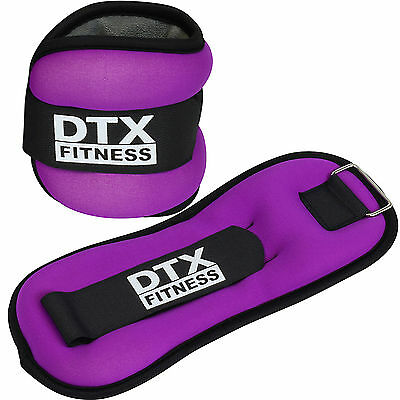 DTX Fitness Purple Ankle/Wrist Weights Running/Exercise Class Aerobics Training