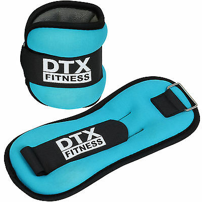 DTX Fitness Blue Ankle/Wrist Weights Running/Exercise Class Aerobics Training