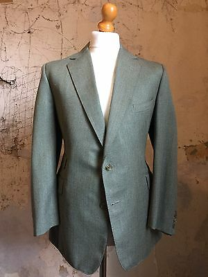 Vintage Mens Bespoke Green Tweed Country Suit Size 42 Short