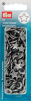 Prym 393245 NF-Buttons Silver Colour Snap Stars