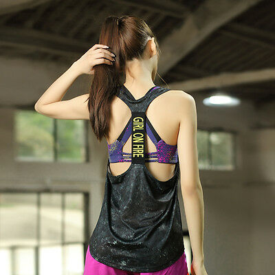 Women Fashion Fitness Yoga Gym Quick Dry Vests Tank Top Clothings Sportwear S-XL
