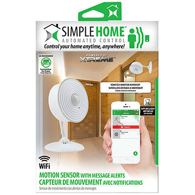 Simple Home Wifi Motion Sensor with Message Alerts - White (XHS7-1001-WHT)